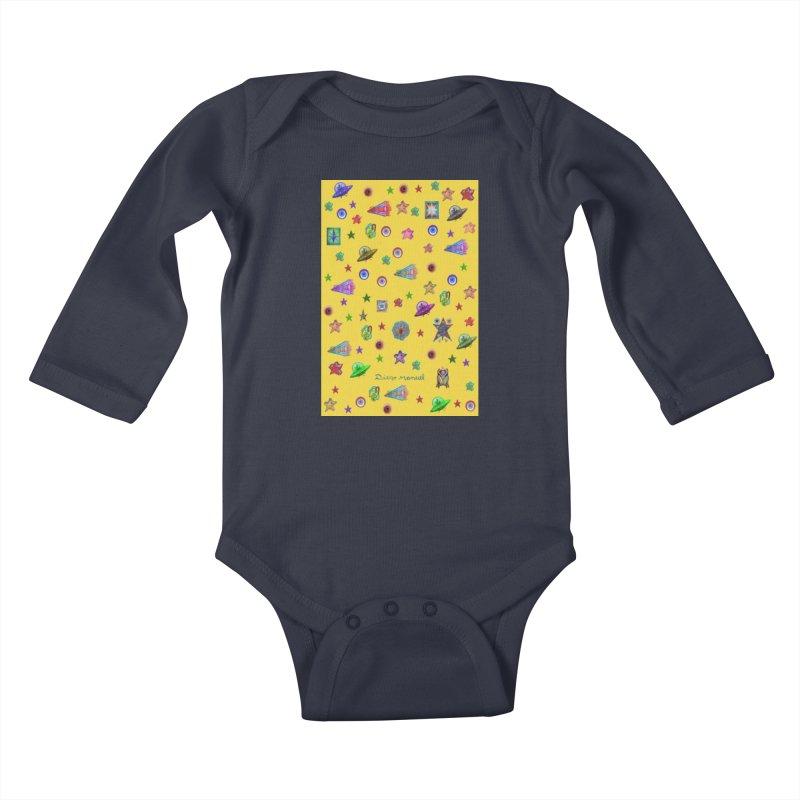 the space Kids Baby Longsleeve Bodysuit by Diego Manuel Rodriguez Artist Shop