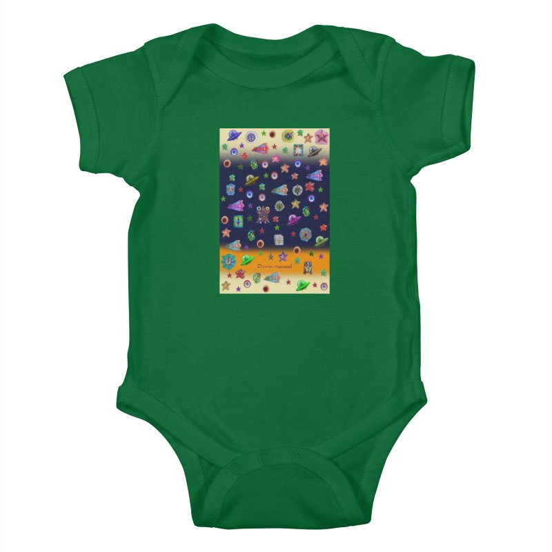 The space Kids Baby Bodysuit by Diego Manuel Rodriguez Artist Shop