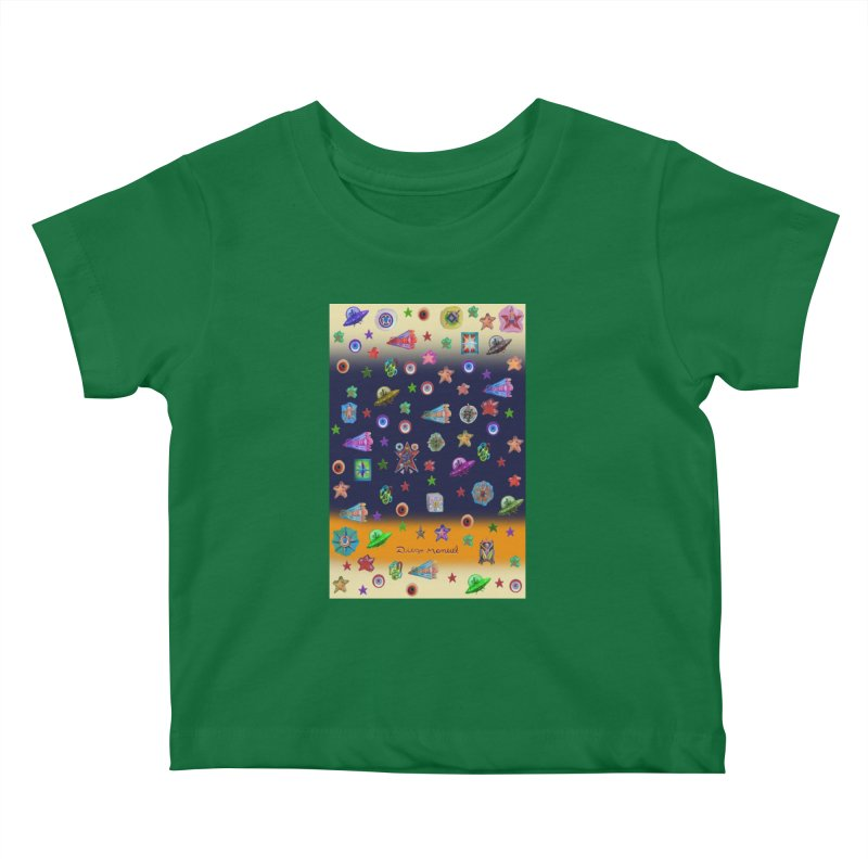 The space Kids Baby T-Shirt by Diego Manuel Rodriguez Artist Shop