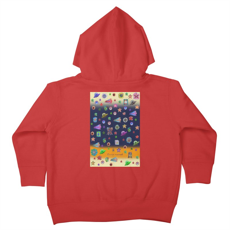 The space Kids Toddler Zip-Up Hoody by Diego Manuel Rodriguez Artist Shop