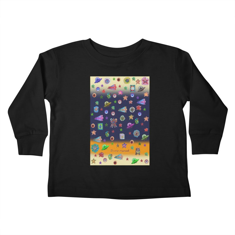 The space Kids Toddler Longsleeve T-Shirt by Diego Manuel Rodriguez Artist Shop