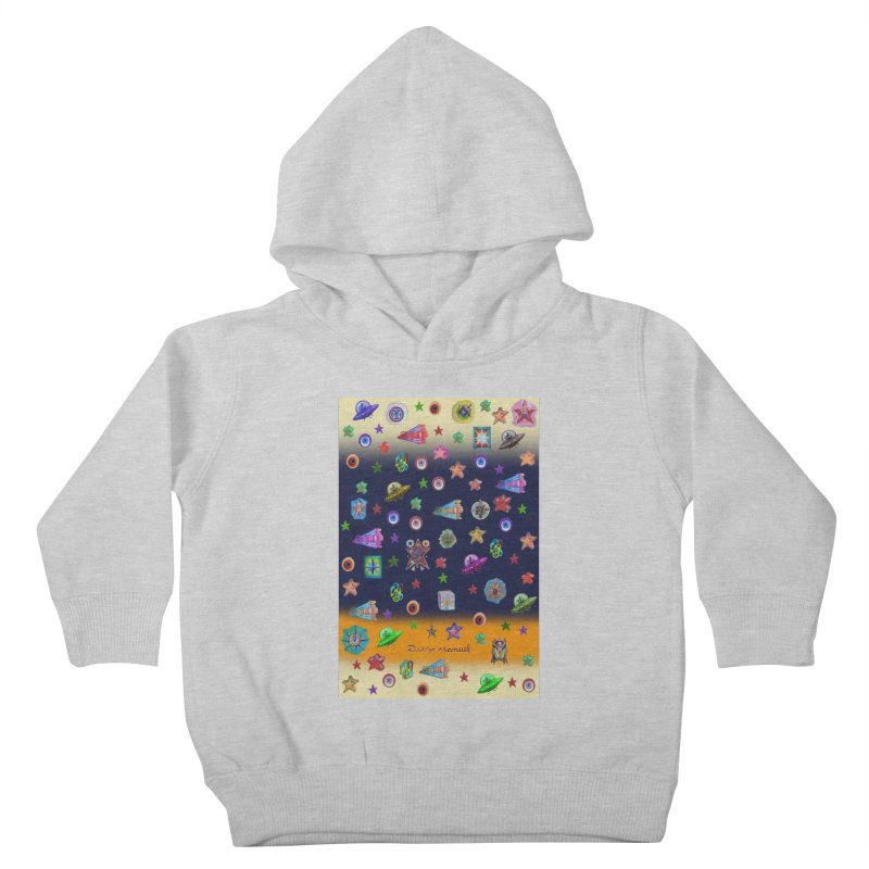 The space Kids Toddler Pullover Hoody by Diego Manuel Rodriguez Artist Shop