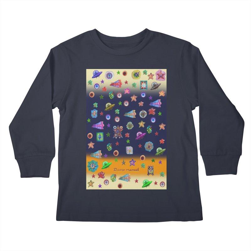 The space Kids Longsleeve T-Shirt by Diego Manuel Rodriguez Artist Shop