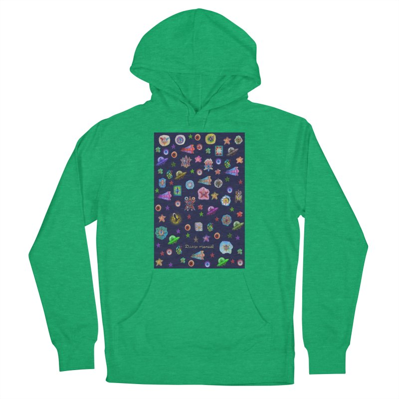 The space Men's Pullover Hoody by Diego Manuel Rodriguez Artist Shop