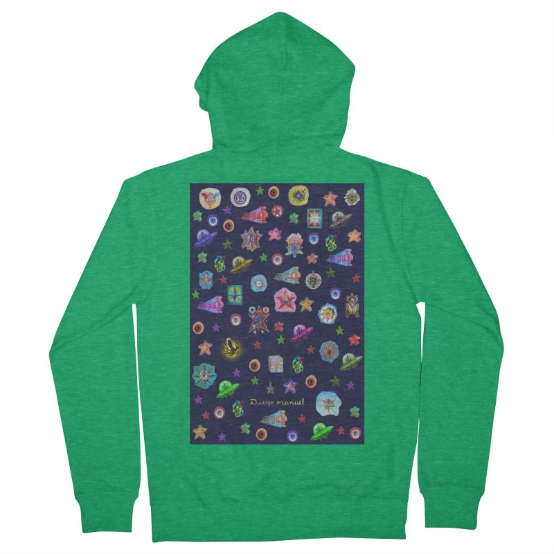 The space Women's Zip-Up Hoody by Diego Manuel Rodriguez Artist Shop