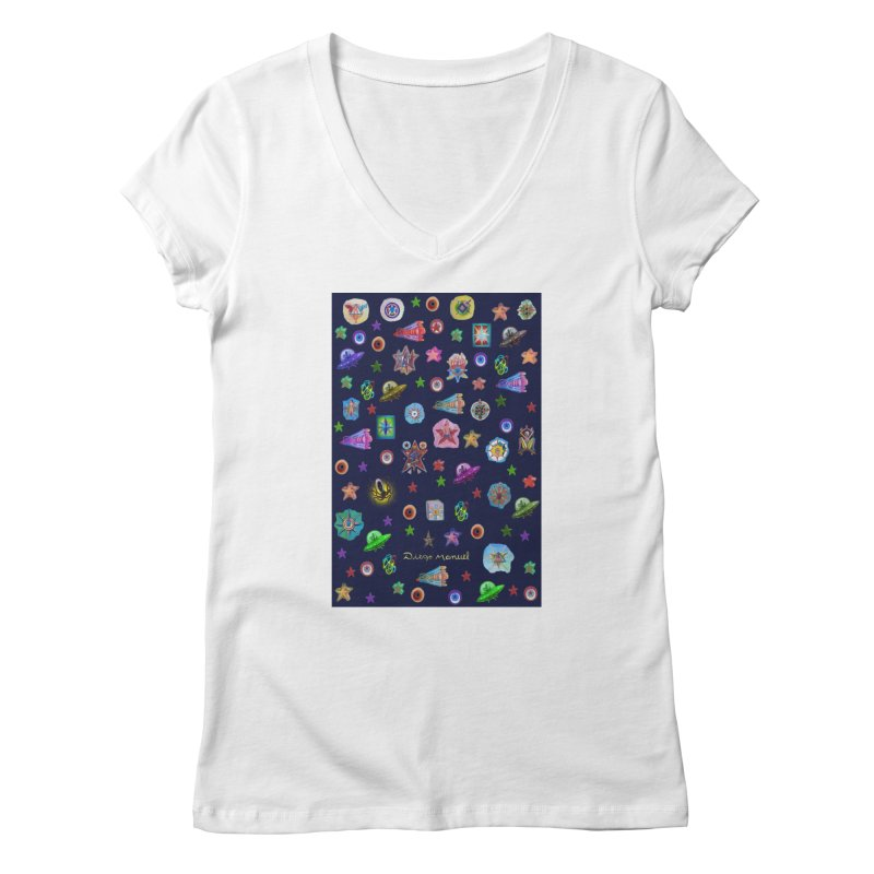 The space Women's V-Neck by Diego Manuel Rodriguez Artist Shop