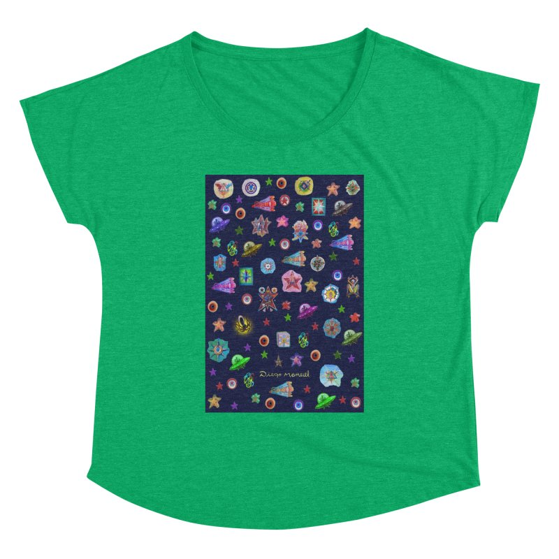 The space Women's Scoop Neck by Diego Manuel Rodriguez Artist Shop