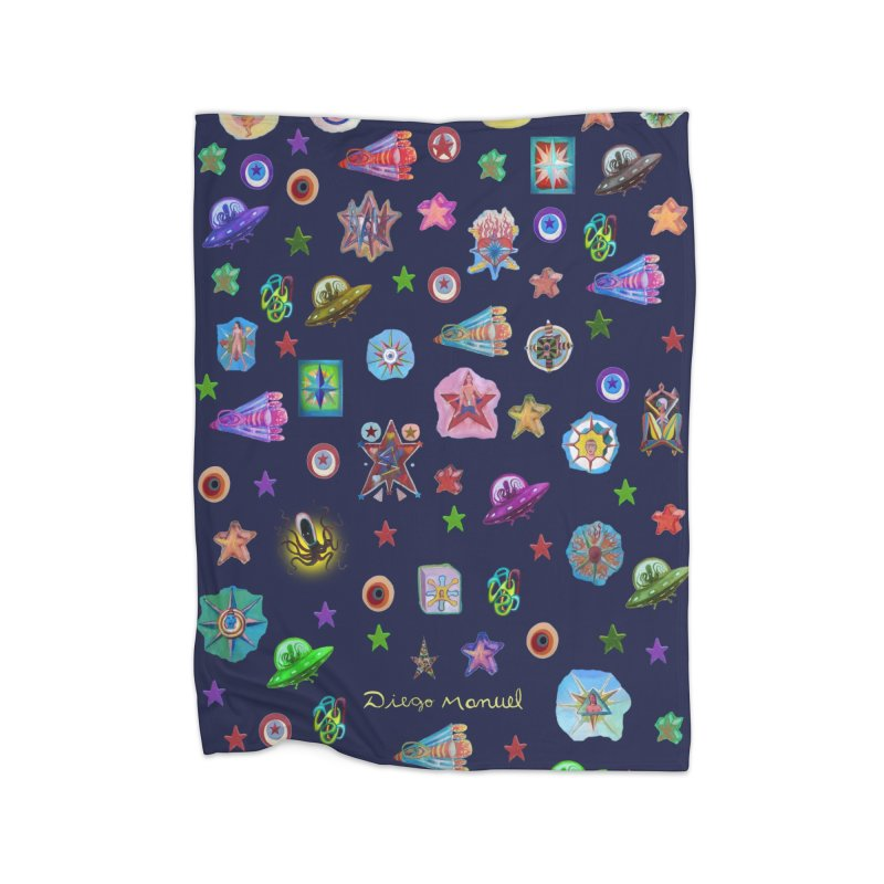The space Home Blanket by Diego Manuel Rodriguez Artist Shop
