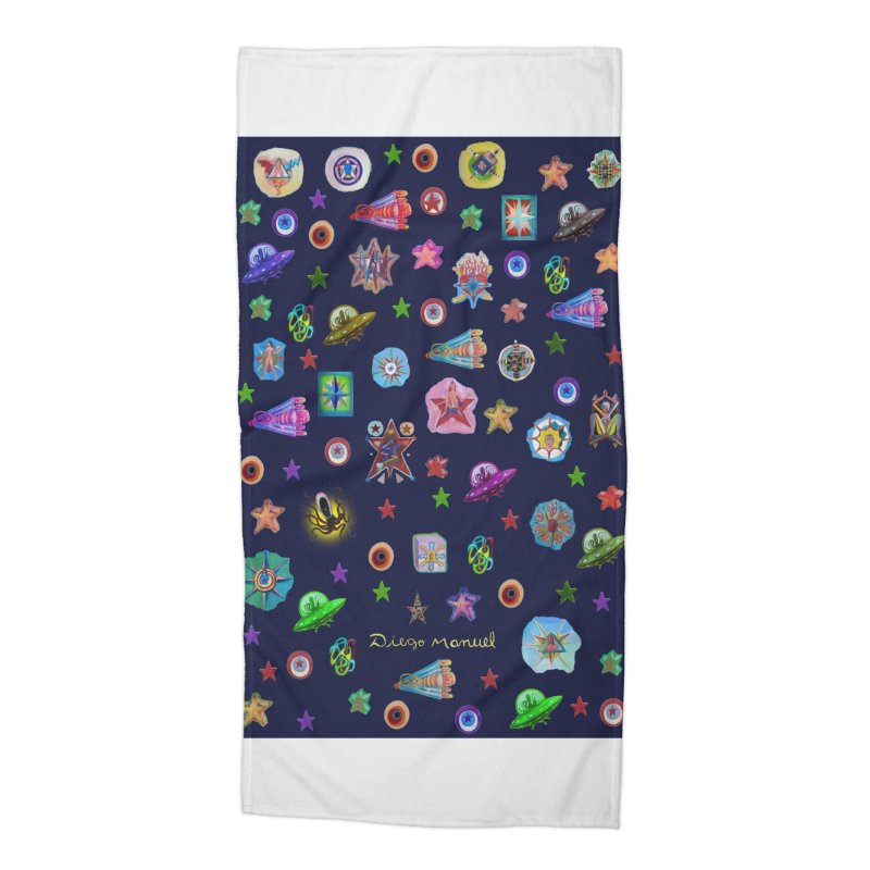 The space Accessories Beach Towel by Diego Manuel Rodriguez Artist Shop