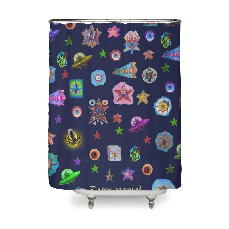 The space Home Shower Curtain by Diego Manuel Rodriguez Artist Shop