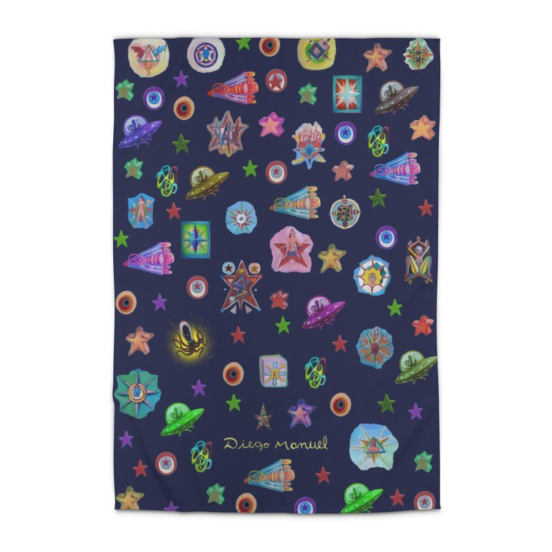 The space Home Rug by Diego Manuel Rodriguez Artist Shop