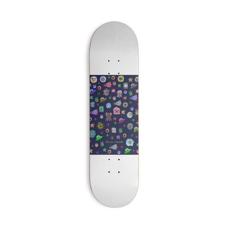 The space Accessories Skateboard by Diego Manuel Rodriguez Artist Shop