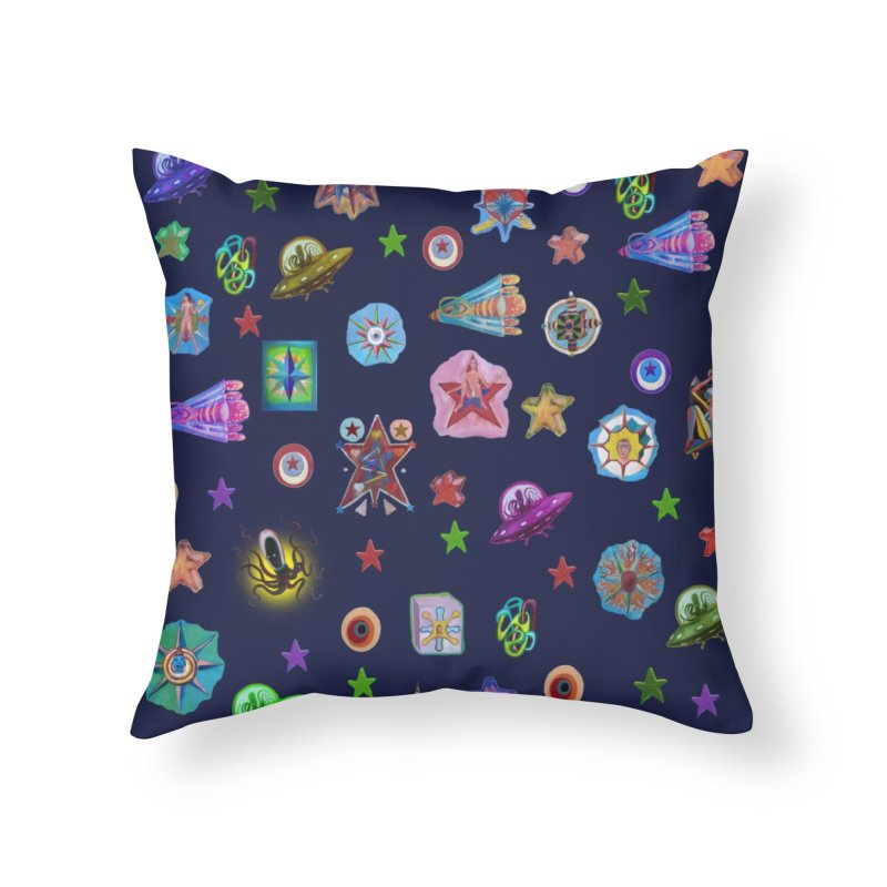 The space Home Throw Pillow by Diego Manuel Rodriguez Artist Shop