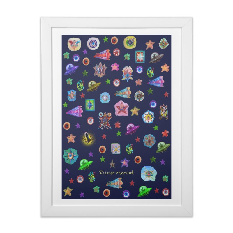The space Home Framed Fine Art Print by Diego Manuel Rodriguez Artist Shop