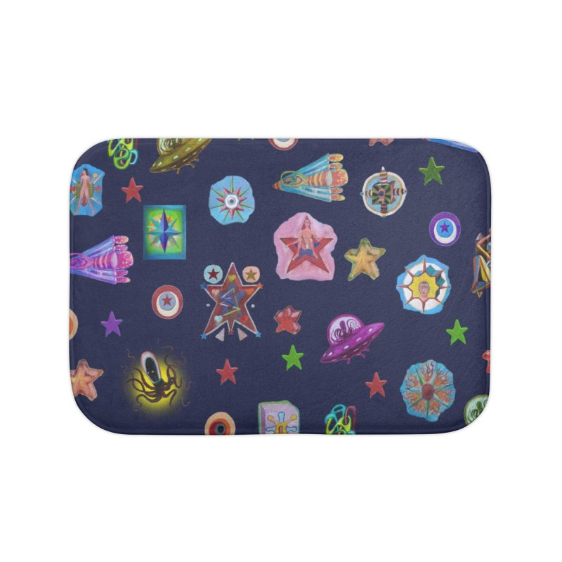 The space Home Bath Mat by Diego Manuel Rodriguez Artist Shop