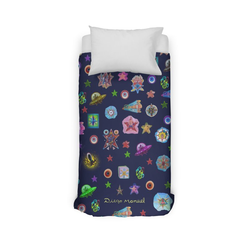 The space Home Duvet by Diego Manuel Rodriguez Artist Shop