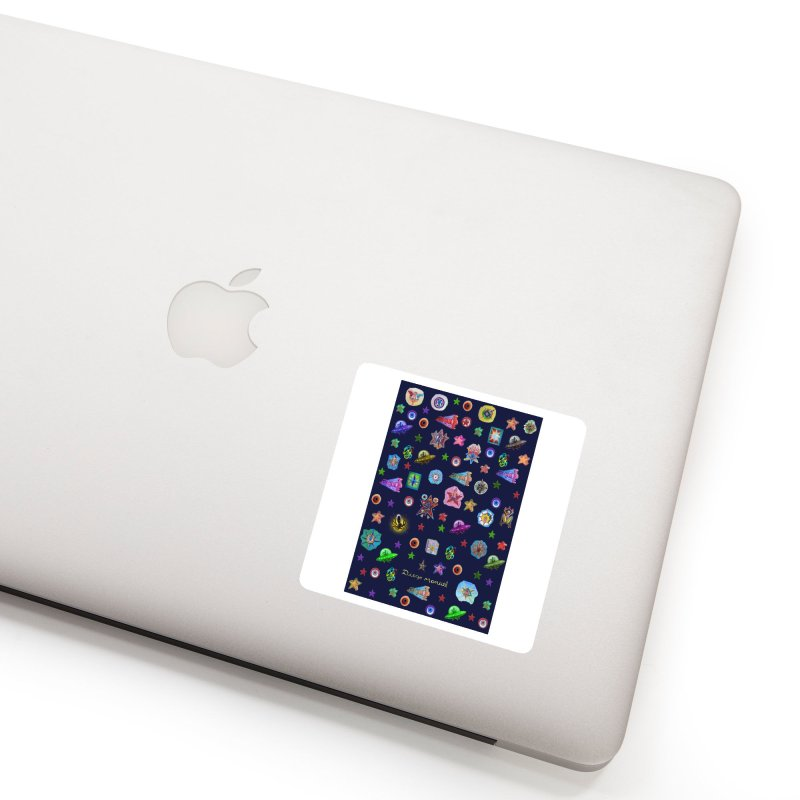 The space Accessories Sticker by Diego Manuel Rodriguez Artist Shop
