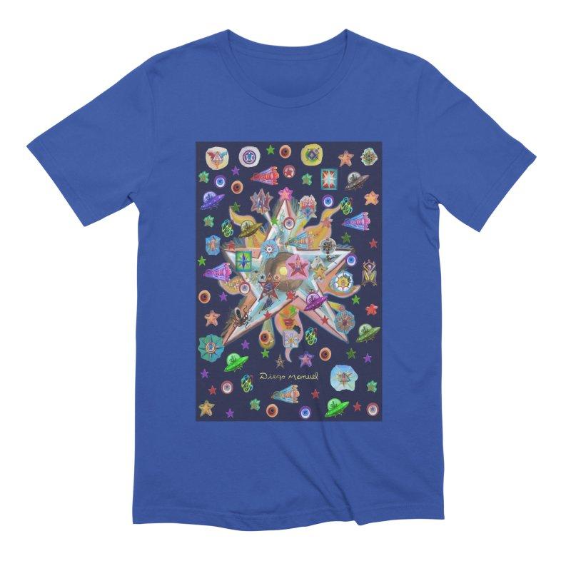 The space 4 Men's T-Shirt by Diego Manuel Rodriguez Artist Shop