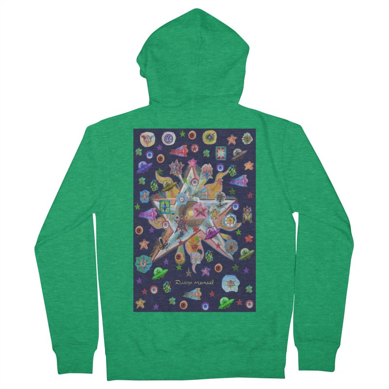 The space 4 Women's Zip-Up Hoody by Diego Manuel Rodriguez Artist Shop