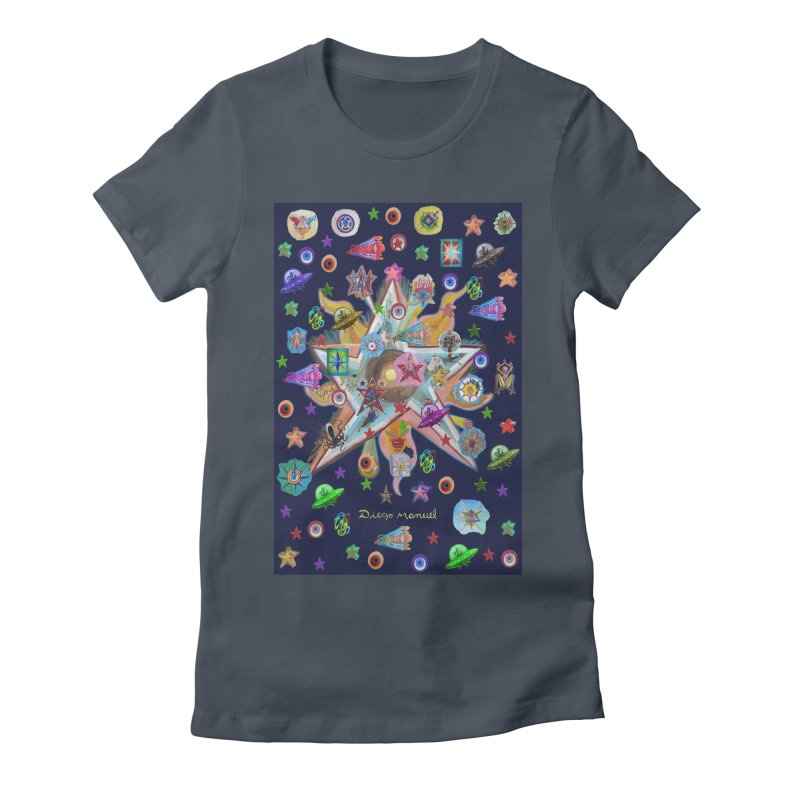The space 4 Women's T-Shirt by Diego Manuel Rodriguez Artist Shop