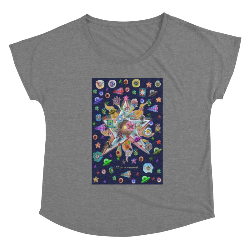 The space 4 Women's Scoop Neck by Diego Manuel Rodriguez Artist Shop