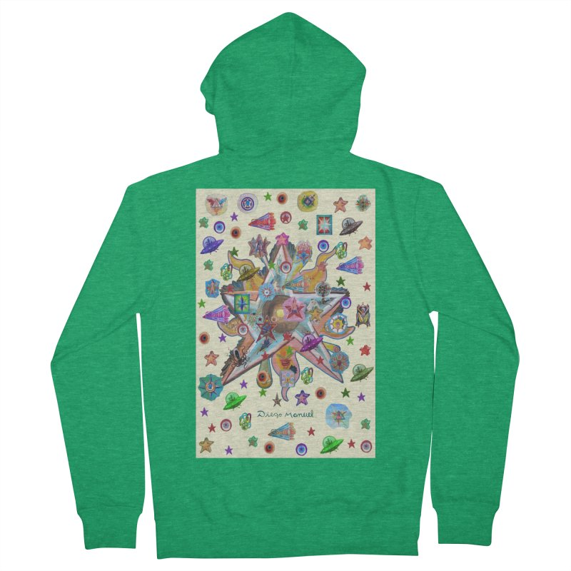 The space 4 Men's Zip-Up Hoody by Diego Manuel Rodriguez Artist Shop