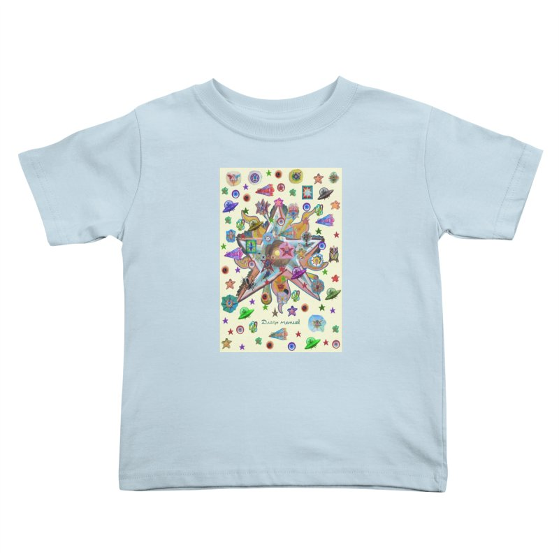 The space 4 Kids Toddler T-Shirt by Diego Manuel Rodriguez Artist Shop