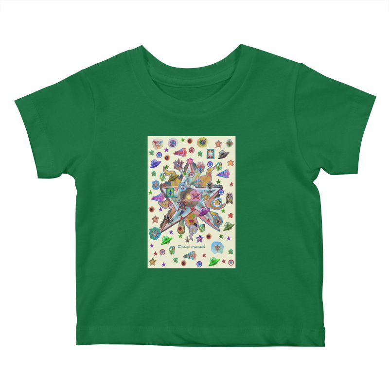 The space 4 Kids Baby T-Shirt by Diego Manuel Rodriguez Artist Shop