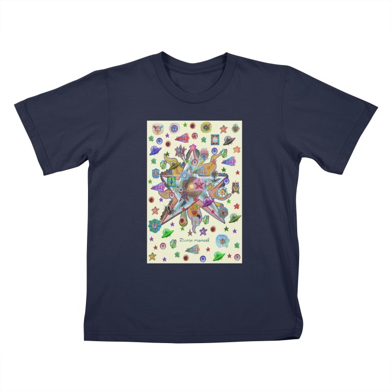 The space 4 Kids T-Shirt by Diego Manuel Rodriguez Artist Shop