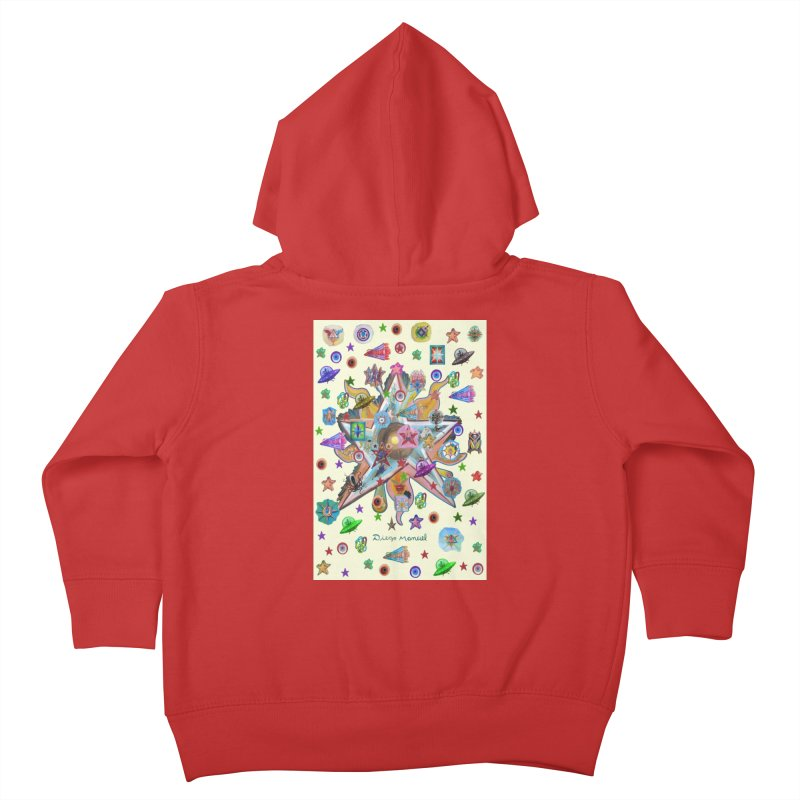 The space 4 Kids Toddler Zip-Up Hoody by Diego Manuel Rodriguez Artist Shop