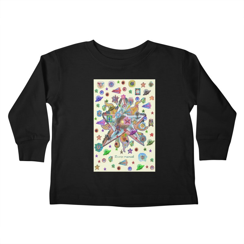 The space 4 Kids Toddler Longsleeve T-Shirt by Diego Manuel Rodriguez Artist Shop