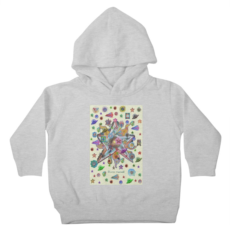 The space 4 Kids Toddler Pullover Hoody by Diego Manuel Rodriguez Artist Shop