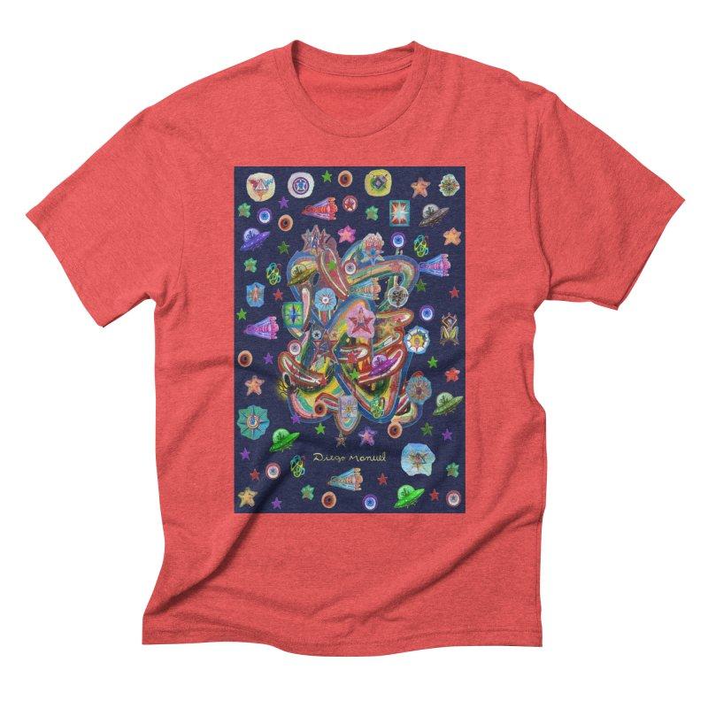 the space 5 Men's T-Shirt by Diego Manuel Rodriguez Artist Shop