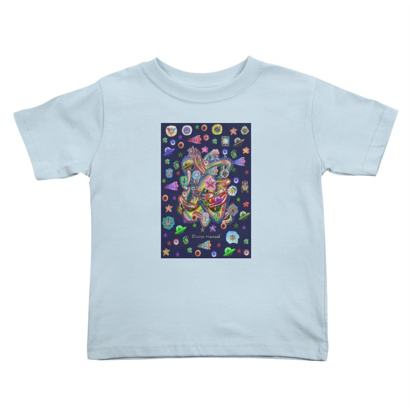 the space 5 Kids Toddler T-Shirt by Diego Manuel Rodriguez Artist Shop