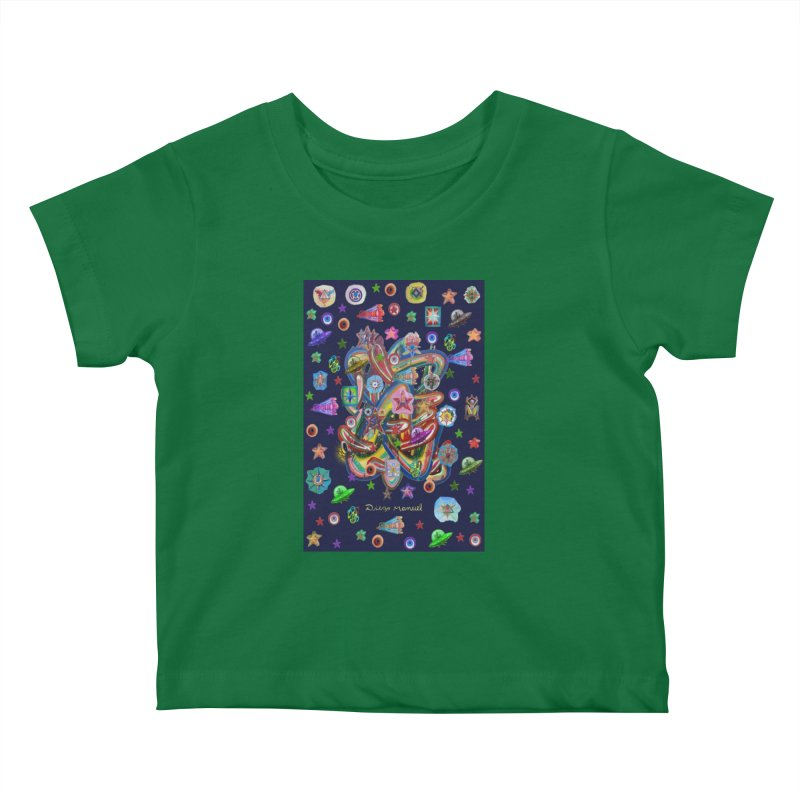 the space 5 Kids Baby T-Shirt by Diego Manuel Rodriguez Artist Shop