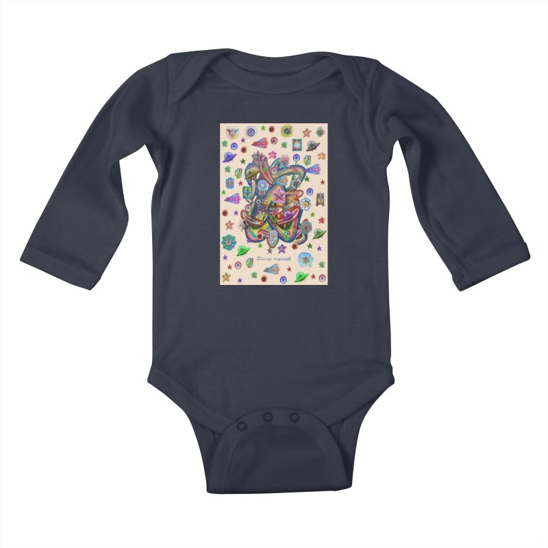 The space Kids Baby Longsleeve Bodysuit by Diego Manuel Rodriguez Artist Shop