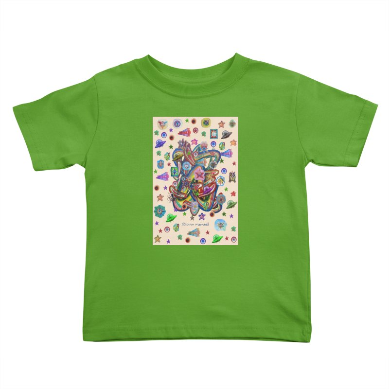 The space Kids Toddler T-Shirt by Diego Manuel Rodriguez Artist Shop