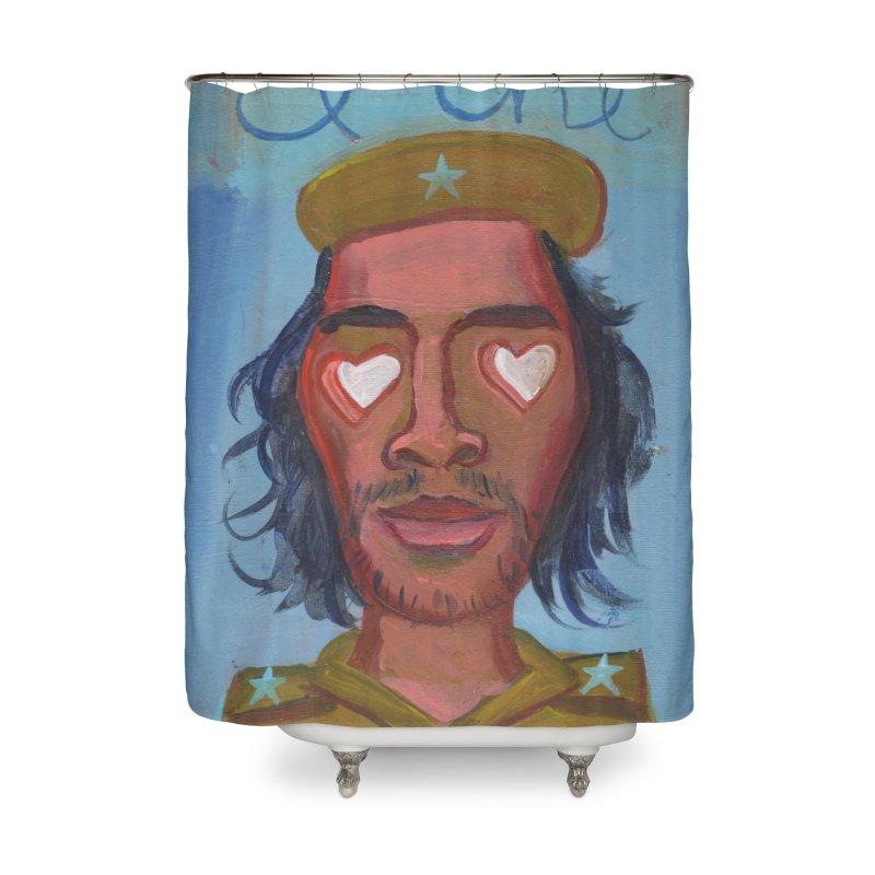 Che Guevara y corazones Home Shower Curtain by Diego Manuel Rodriguez Artist Shop