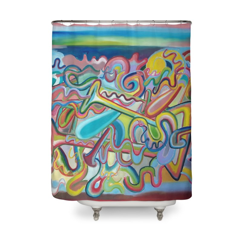 Composicion verano 1 Home Shower Curtain by Diego Manuel Rodriguez Artist Shop