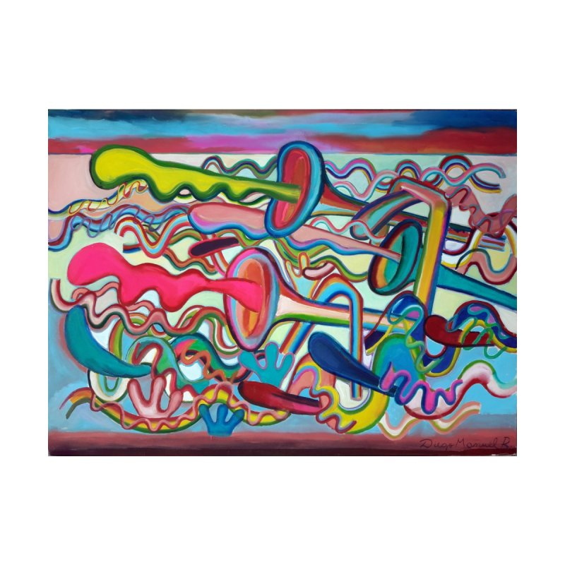 Composicion verano 2 Home Shower Curtain by Diego Manuel Rodriguez Artist Shop