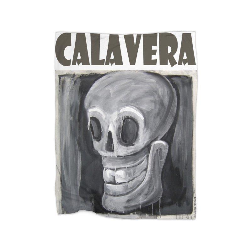 Calavera Home Fleece Blanket Blanket by diegomanuel's Artist Shop