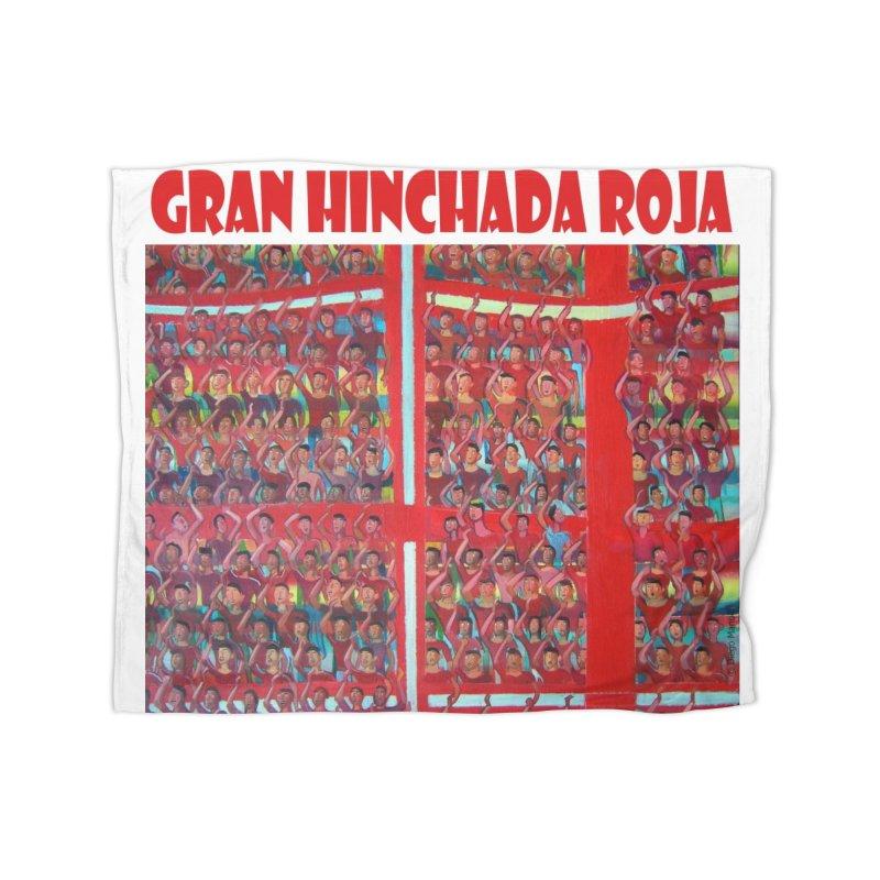 Gran Hinchada roja Home Blanket by Diego Manuel Rodriguez Artist Shop