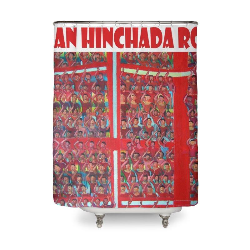 Gran Hinchada roja Home Shower Curtain by Diego Manuel Rodriguez Artist Shop