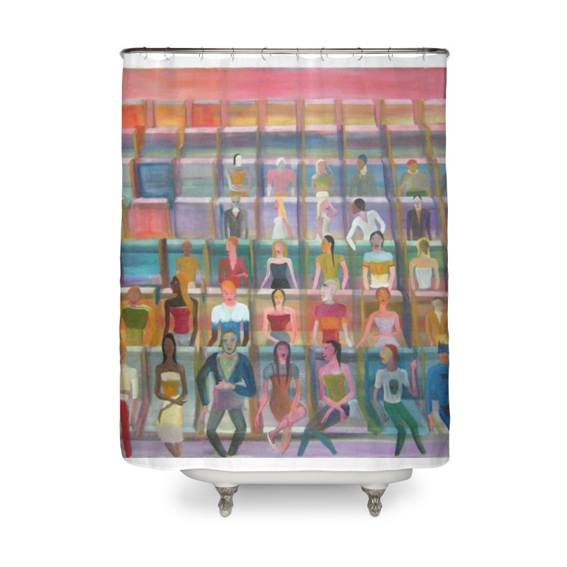 At the cinema Home Shower Curtain by diegomanuel's Artist Shop