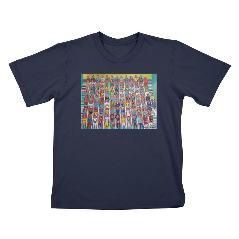 At the cinema Kids T-Shirt by Diego Manuel Rodriguez Artist Shop
