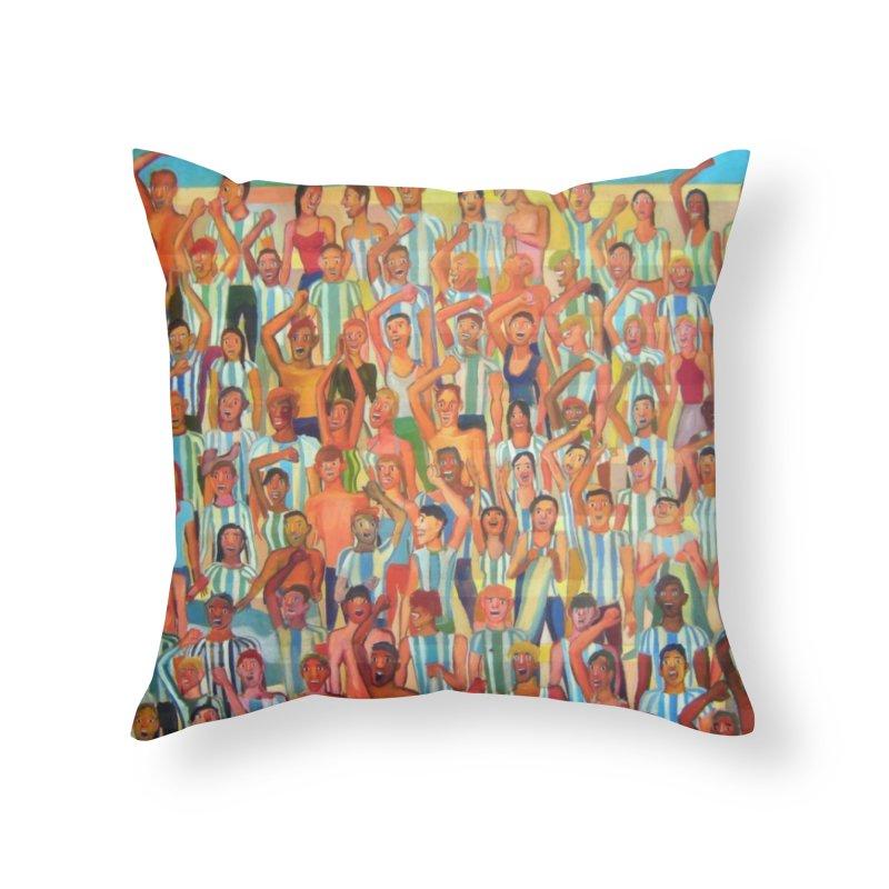 Great Argentine tribune Home Throw Pillow by Diego Manuel Rodriguez Artist Shop