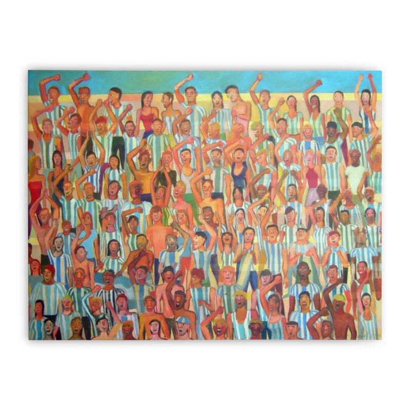 Great Argentine tribune Home Stretched Canvas by Diego Manuel Rodriguez Artist Shop