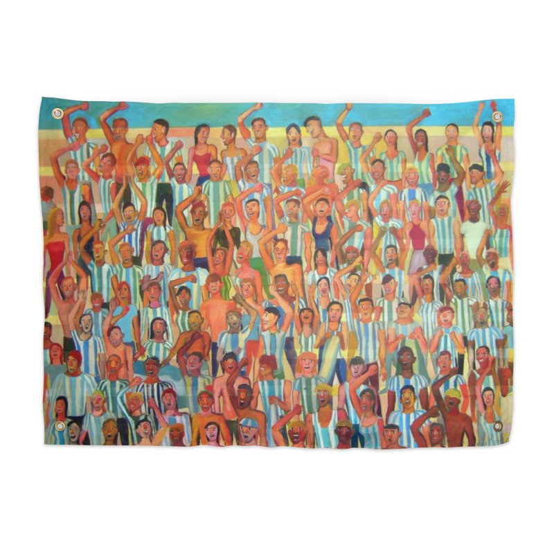 Great Argentine tribune Home Tapestry by Diego Manuel Rodriguez Artist Shop