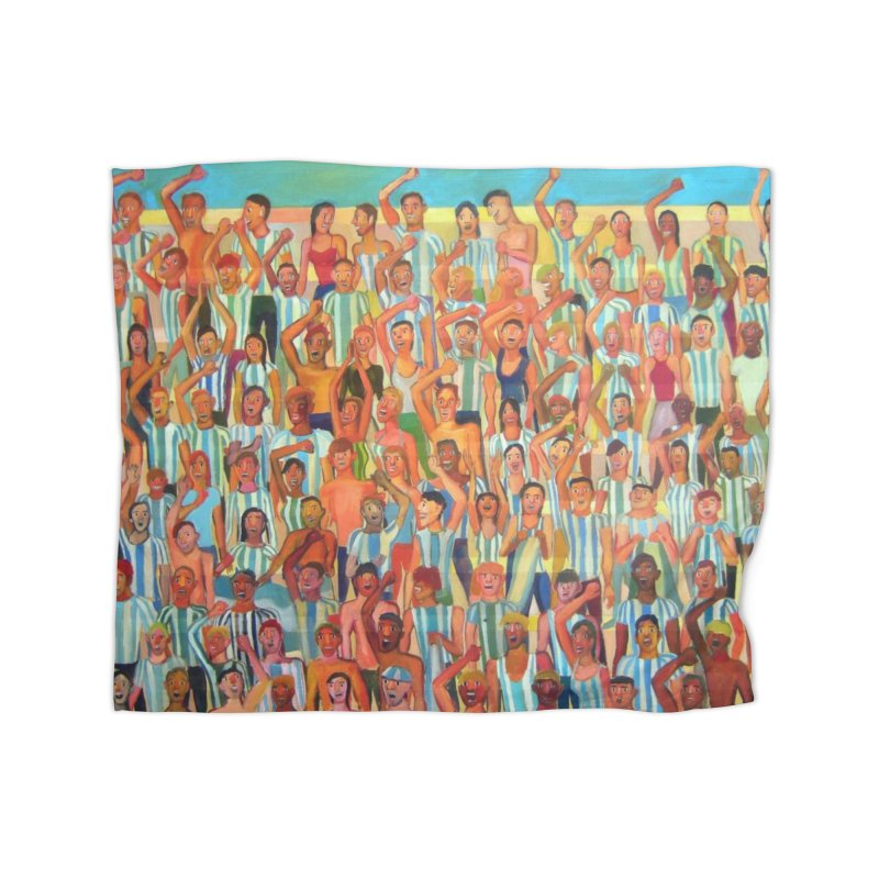 Great Argentine tribune Home Blanket by Diego Manuel Rodriguez Artist Shop