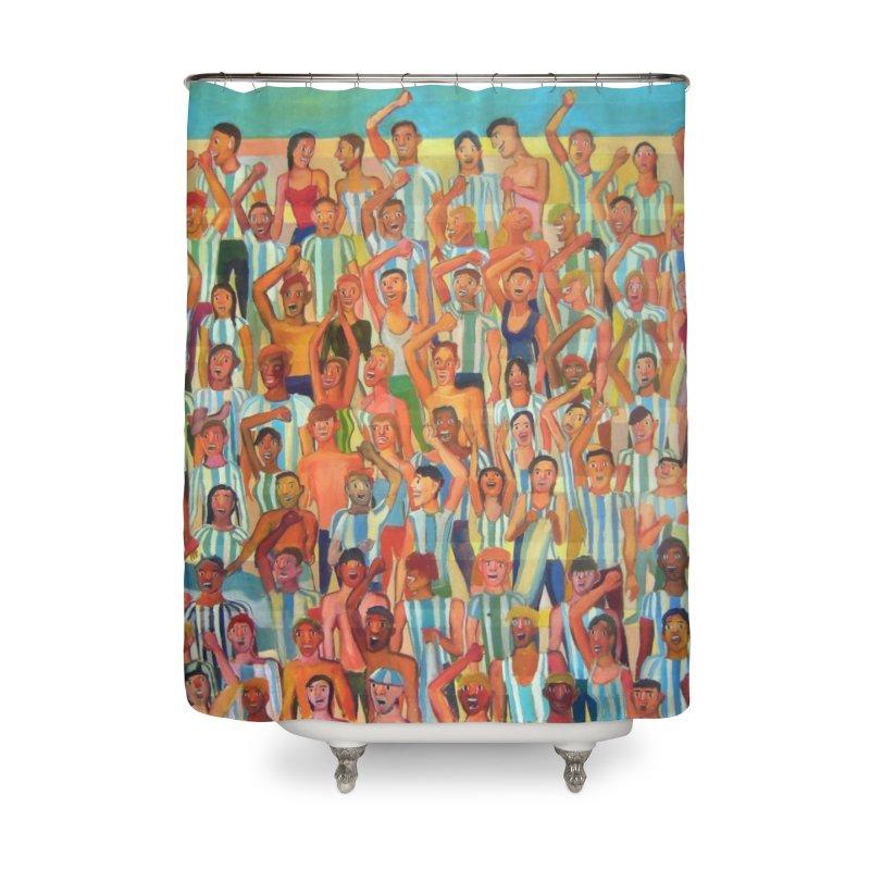 Great Argentine tribune Home Shower Curtain by Diego Manuel Rodriguez Artist Shop